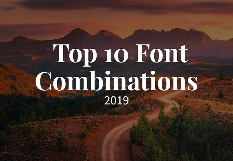 top font fombinations 2019