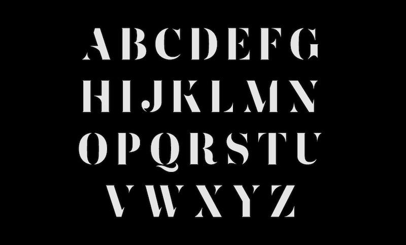 zefani stencil free luxury typeface