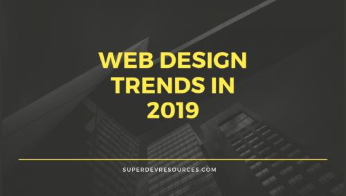 web design trands 2019