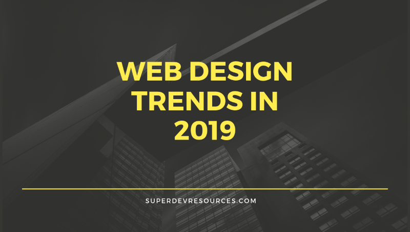 web design trands 2019