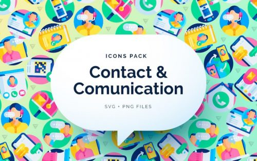 free contact communication icons vector