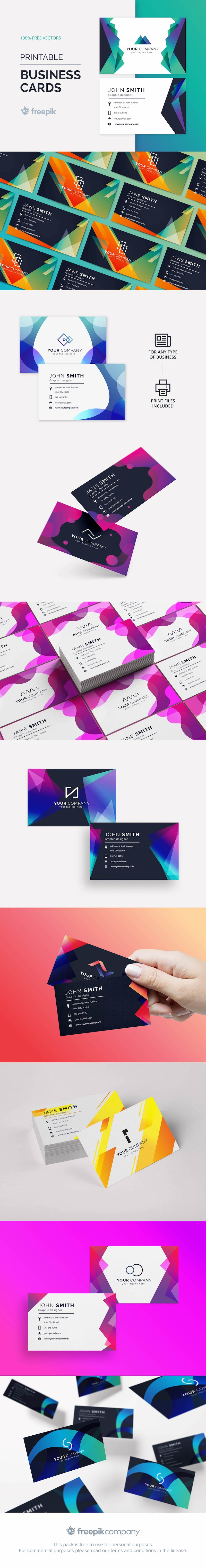 free modern business card vector templates