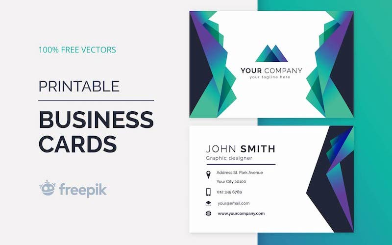 10 Free Modern Business Card Vector Templates