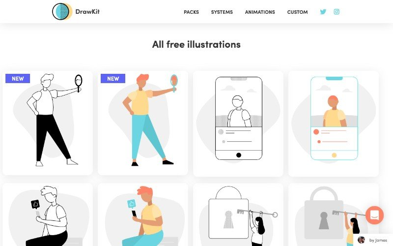drawkit mit licensed illustrations