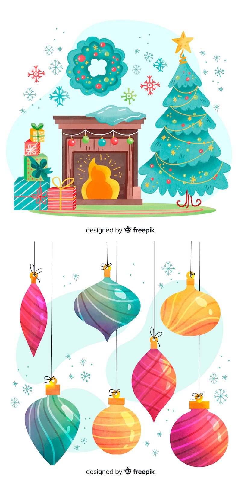 free christmas decor vector