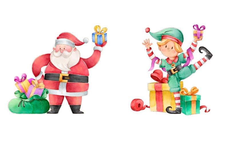 free watercolor christmas graphics