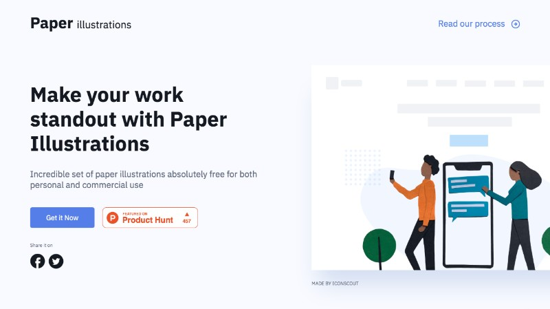 iconscout free paper illustrations