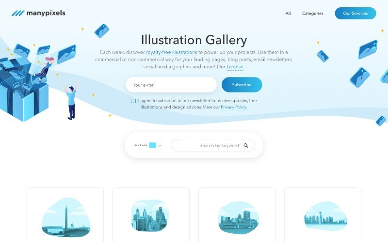 manypixels royalty free illustrations