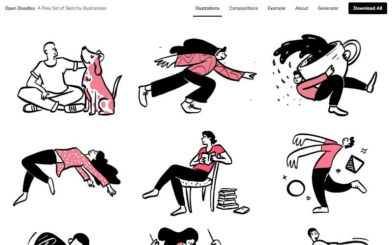 16 Places to Find Free Illustrations for Websites