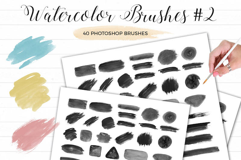 40 free watercolor brushes