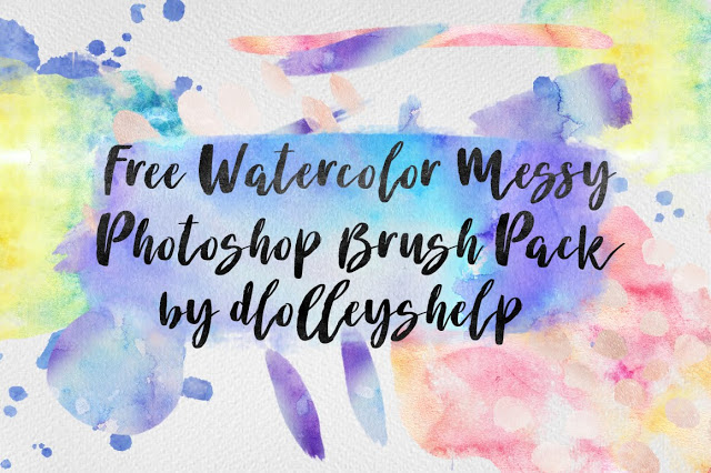 free watercolor messy photoshop brush pack