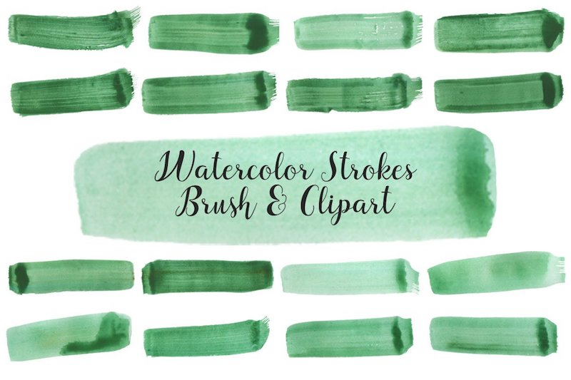 free watercolor strokes brushes