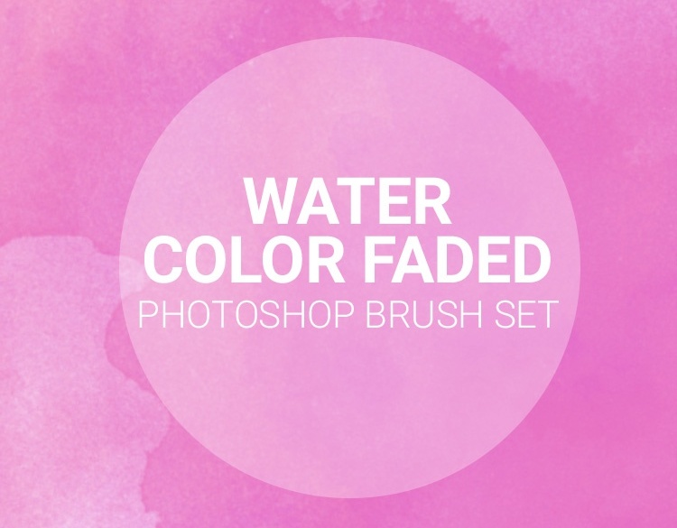 watercolor faded texture brushes free
