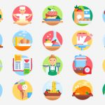 50 Free Gastronomy Icons – SVG & PNG Download
