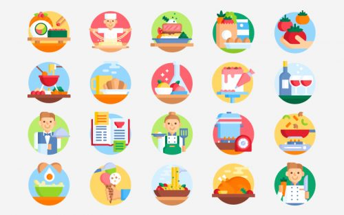 free gastronomy icons
