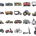 50 Free Vehicle and Transport Icons –    SVG & PNG