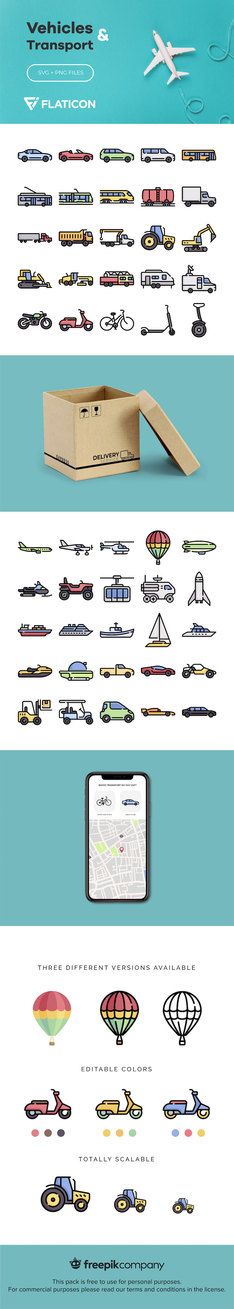 free vehicle transport icons svg