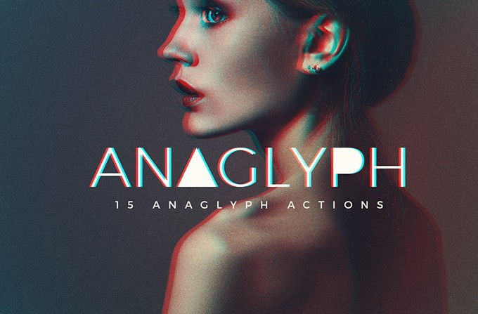 free anaglyph photoshop action