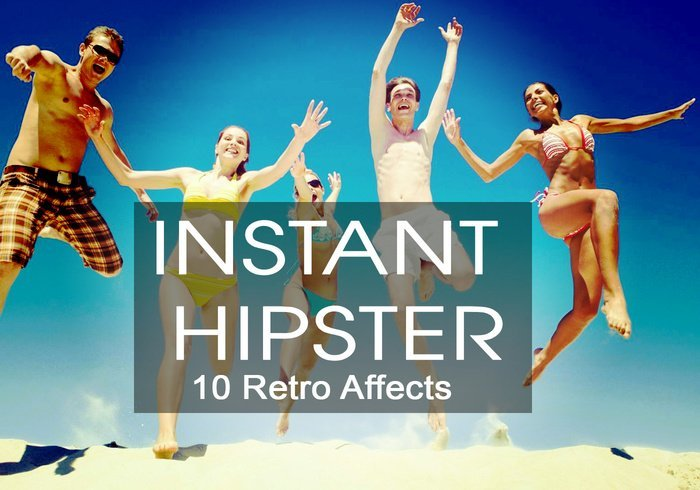 instant hipster retro actions free