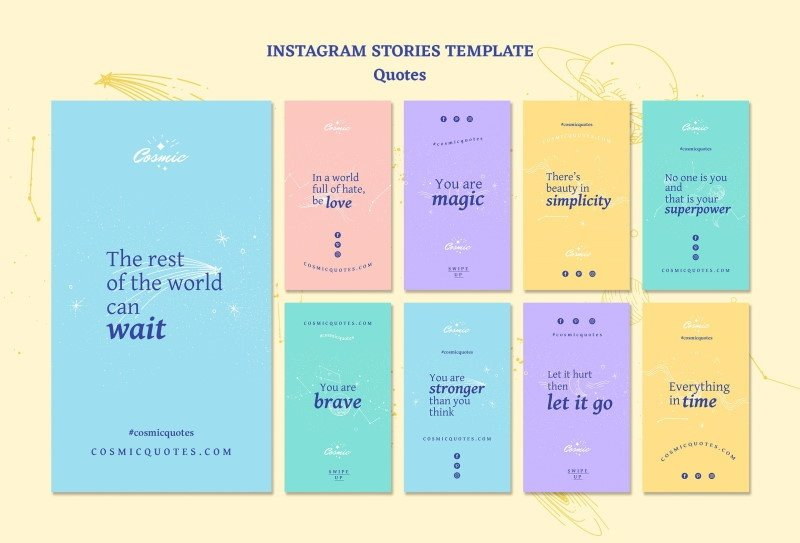 free instagram quotes stories template