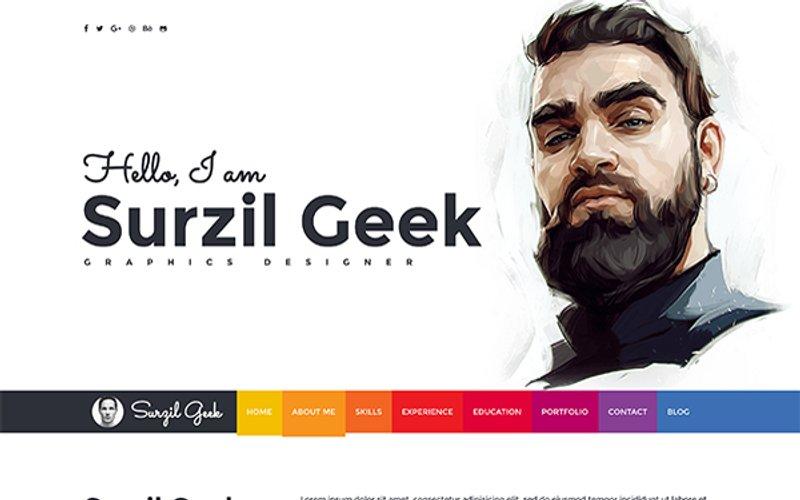 Geek Resume Portfolio Template