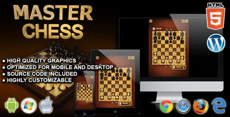 Master Chess HTML5 Board