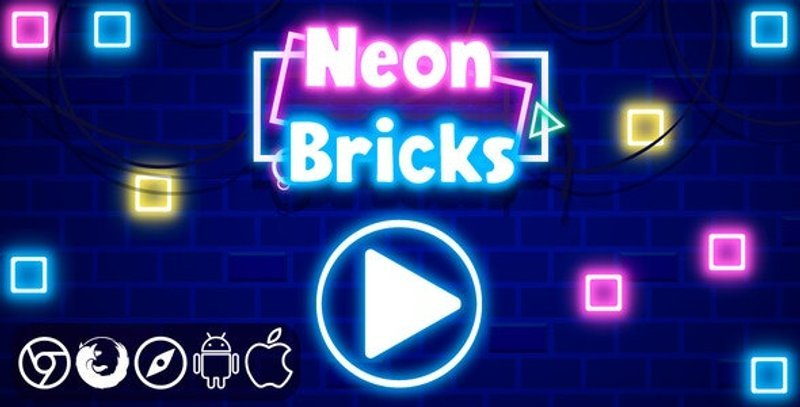 Neon Bricks HTML5 Game