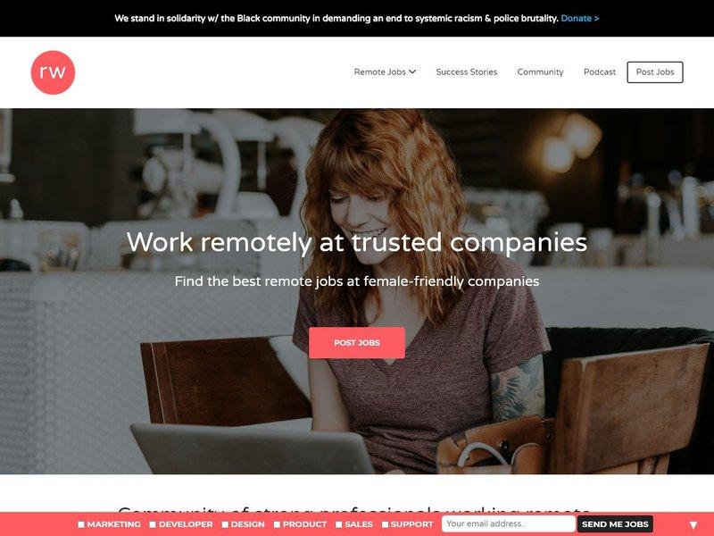10 RemoteWoman Remote Jobs Work