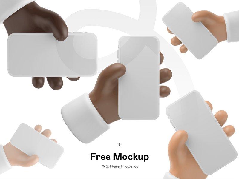 14 Free 3D iPhone Mockup