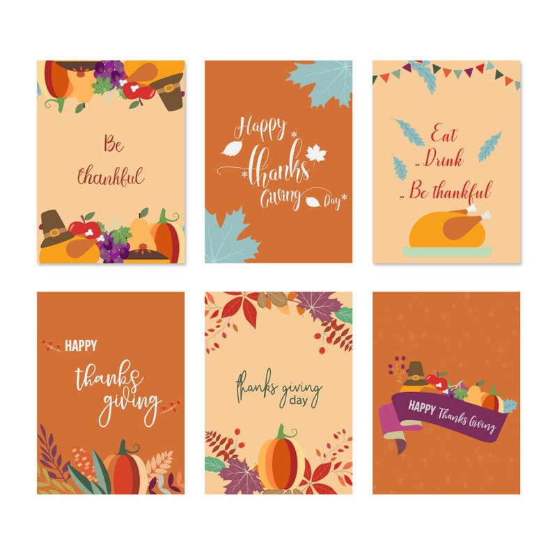 Set of Thanksgiving Cards