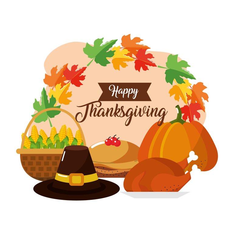 Thanksgiving food greeting card