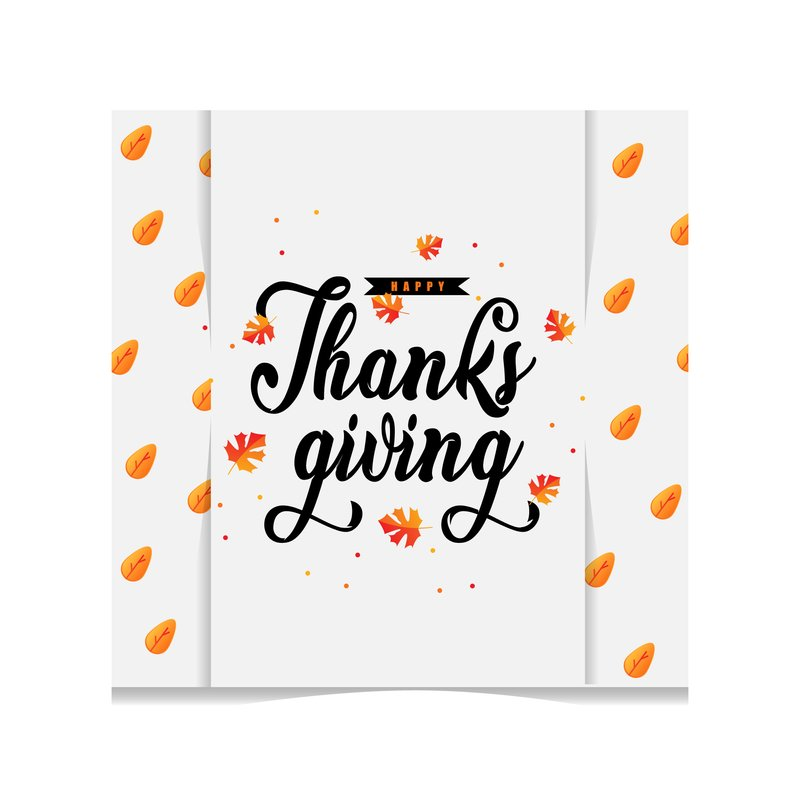 Thanksgiving greeting card template