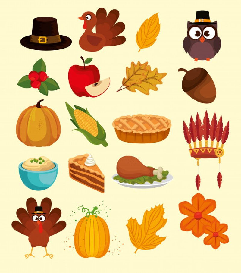 free vector thanksgiving icons