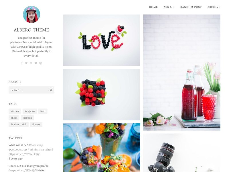 Albero Photography Tumblr Theme
