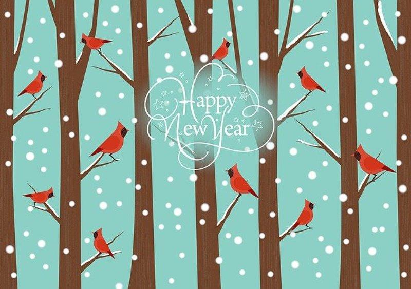 Happy New Year Greeting illustration