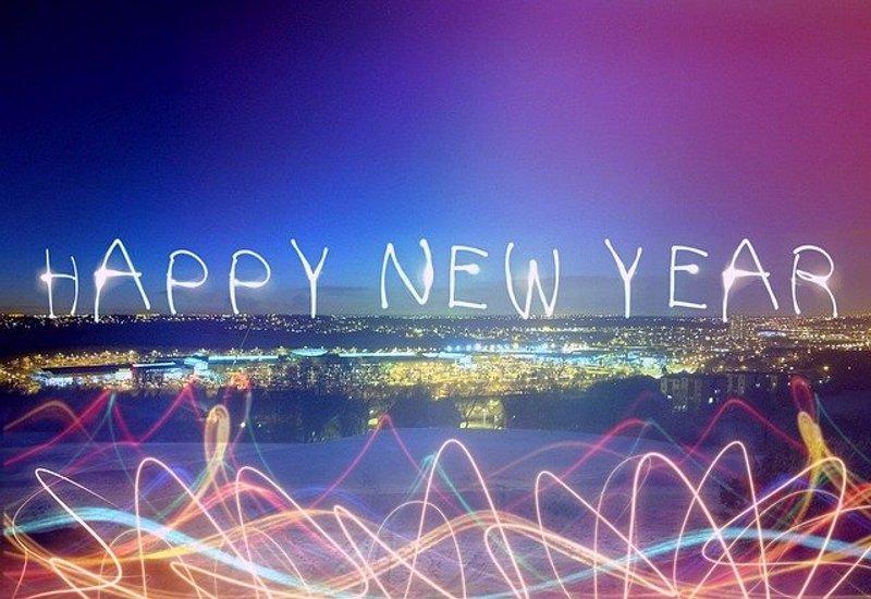 Happy New Year cityscape image