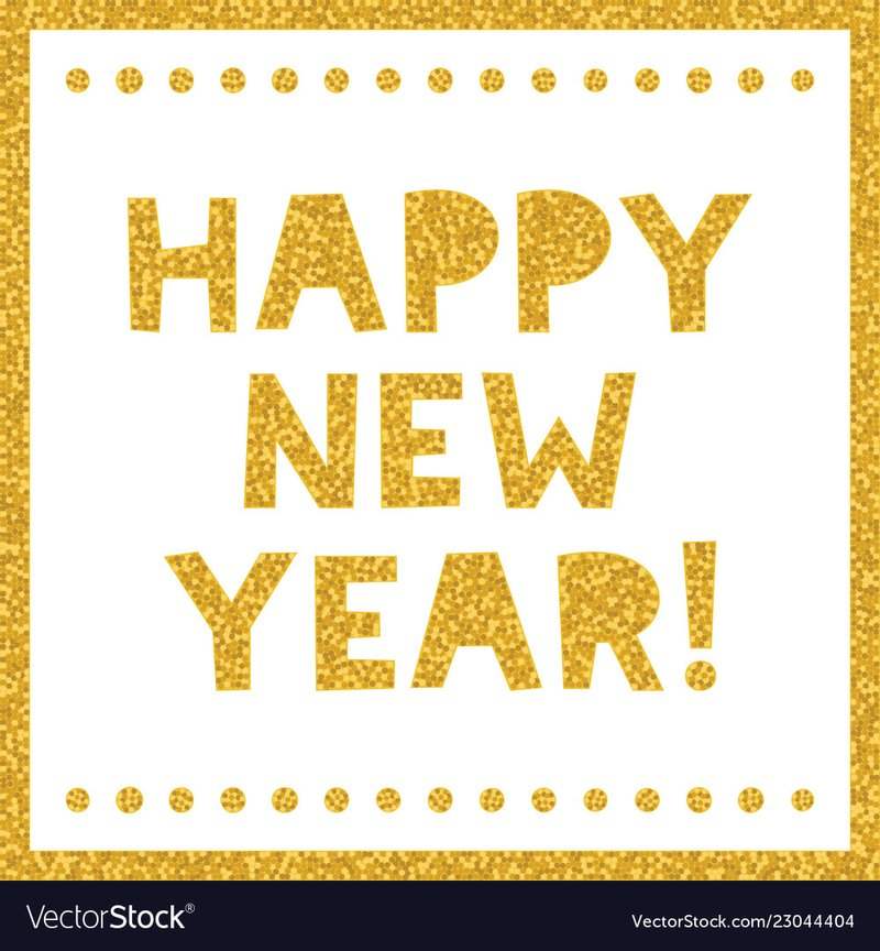 Happy new year greeting gold