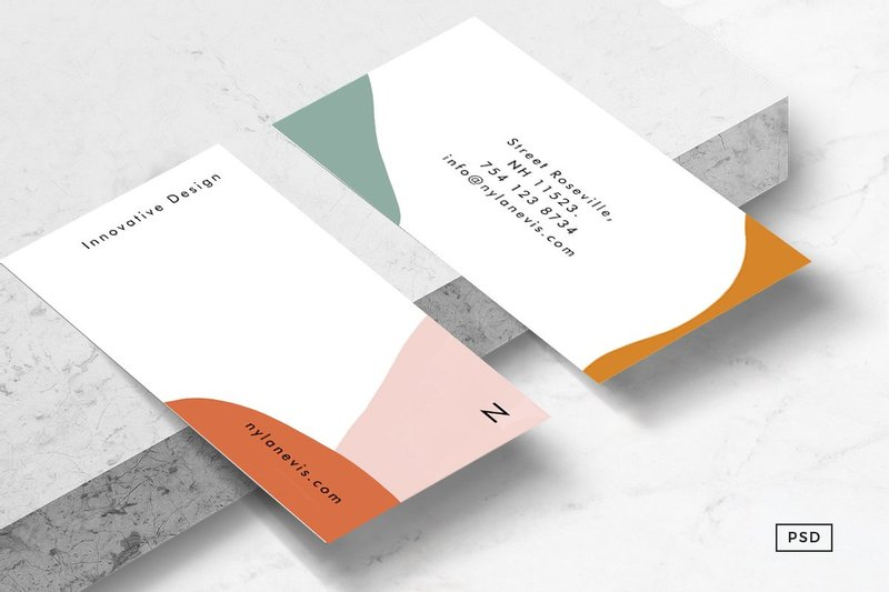 Isla Abstract Business Card Template