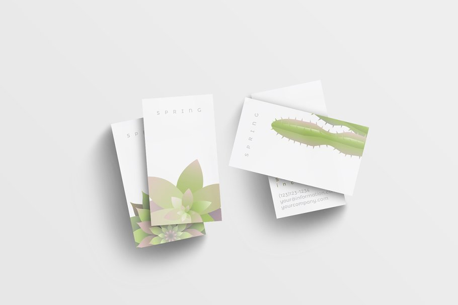 Modern Spring business card templates