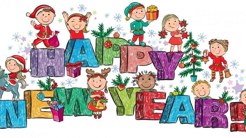 New Year Christmas Greeting