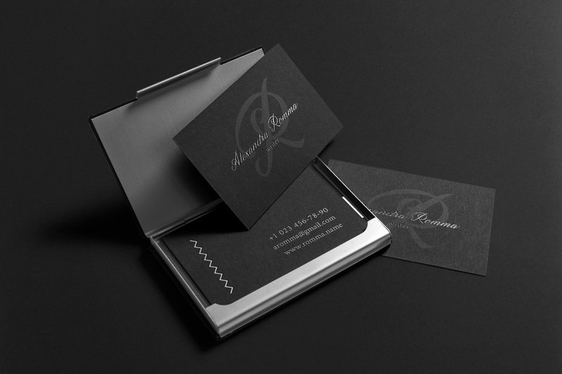 Simple Business Card black white