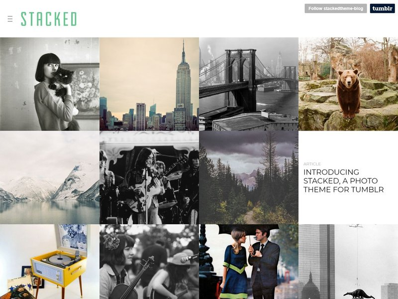 Stacked Free Photo Gallery Theme