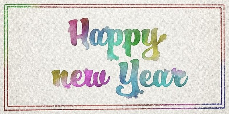 Water Color new year