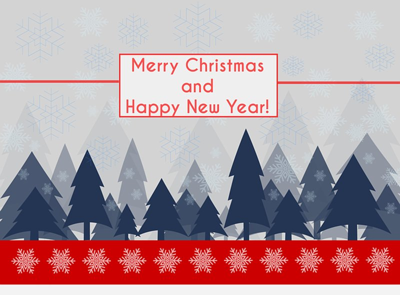 Winter Landscape New Year card