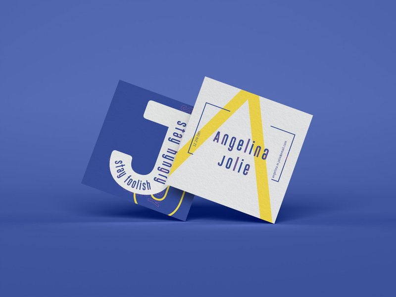creative square business card psd