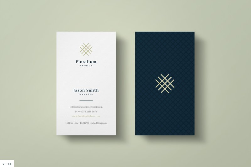 elegant business card psd word