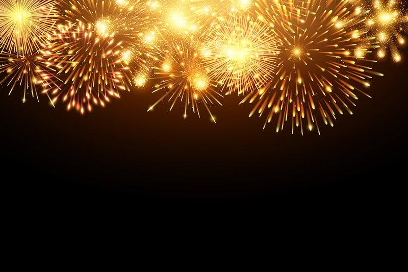 golden firework background vector