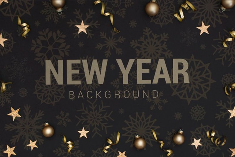new year background Free PSD