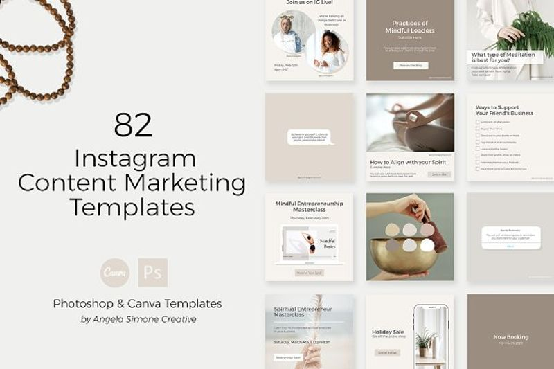 Instagram Content Marketing Template