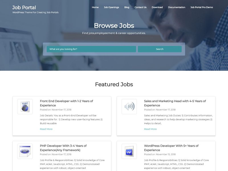 17 Job Portal WordPress theme